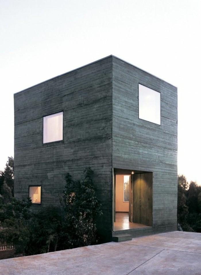 moderne-architektenhäuser-minimalistisches-modell
