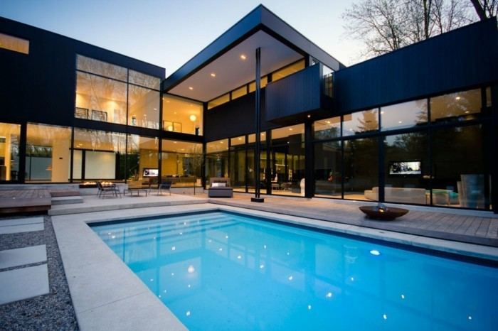 Moderne Architektenhäuser Mit Pool ~ tolles hausdesign mit pool  moderne architektenhäuser gestalten