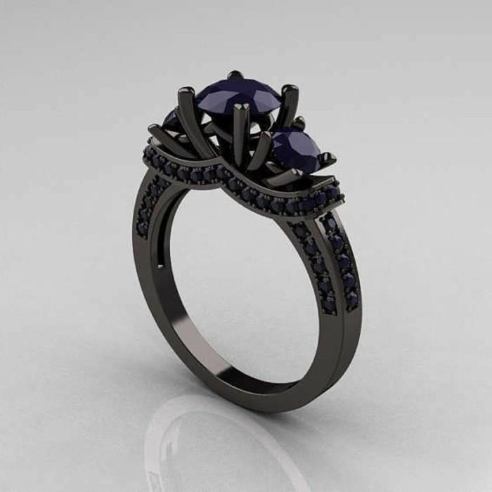 moderne-ausgefallene-Verlobungsringe-Modell-in-Schwarz-inspiriert-von-Disney