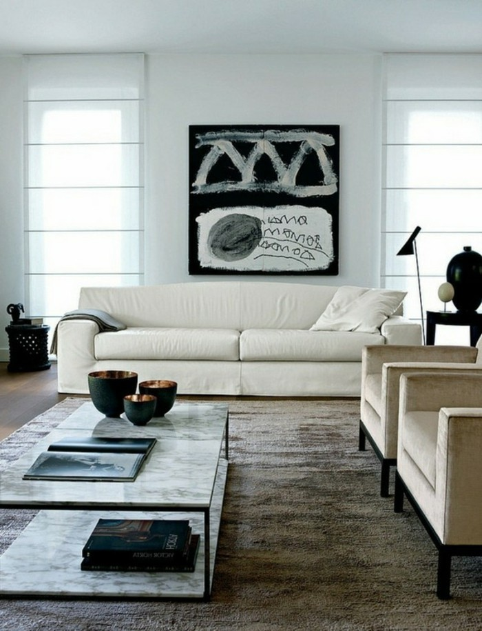 moderne-gestaltung-wohnzimmer-bild-an-der-wand