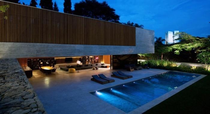 Moderne luxushäuser mit pool  110 schöne Häuser, die echte Hingucker sind! - Archzine.net