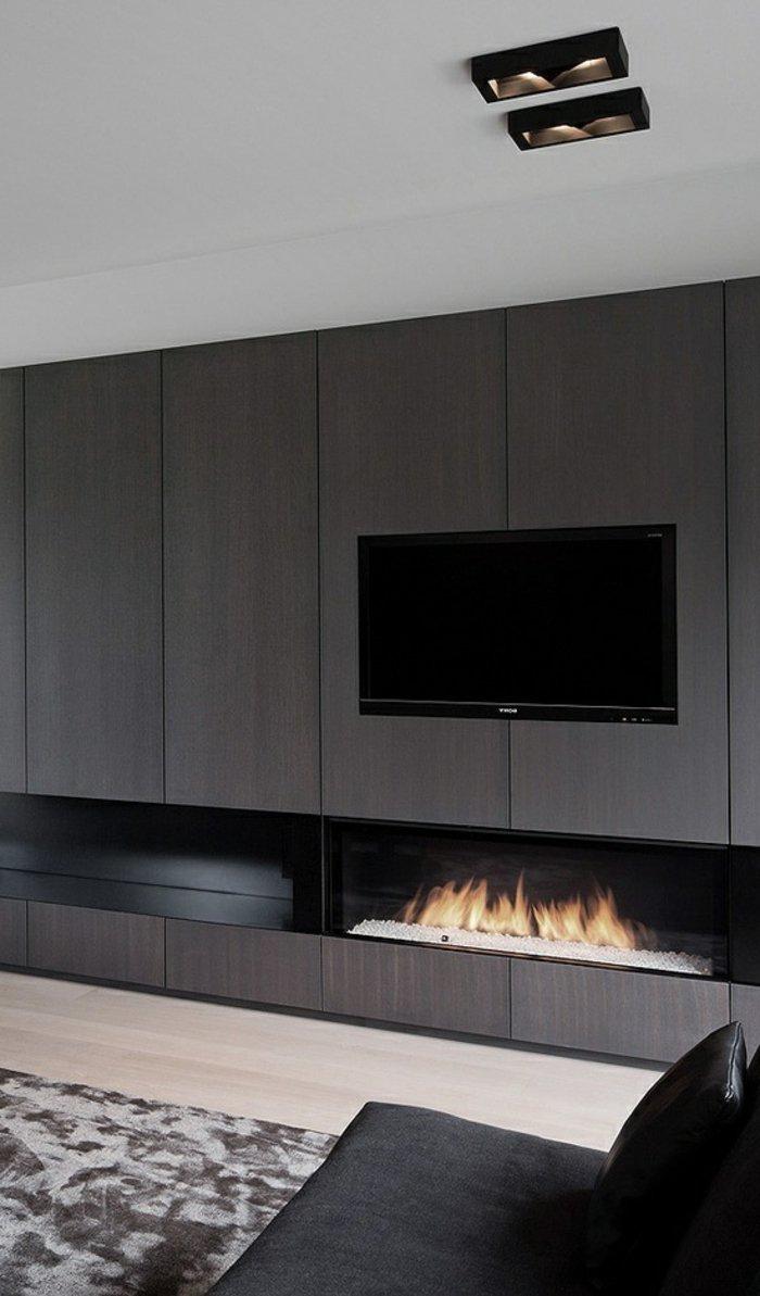 Die graue Wandfarbe - 43 Interieur Ideen damit