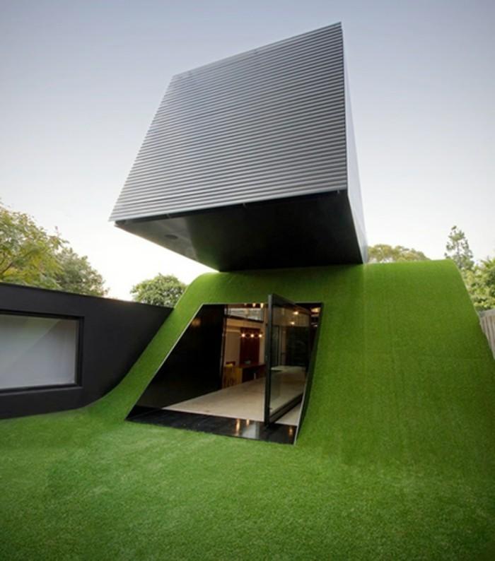 modernes-architektenhaus-minimalistisches-hausmodell-grünes gras