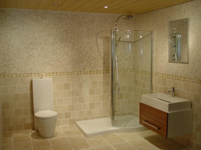 tolles bad gestalten - modernes kleines bad gestalten - beige farben