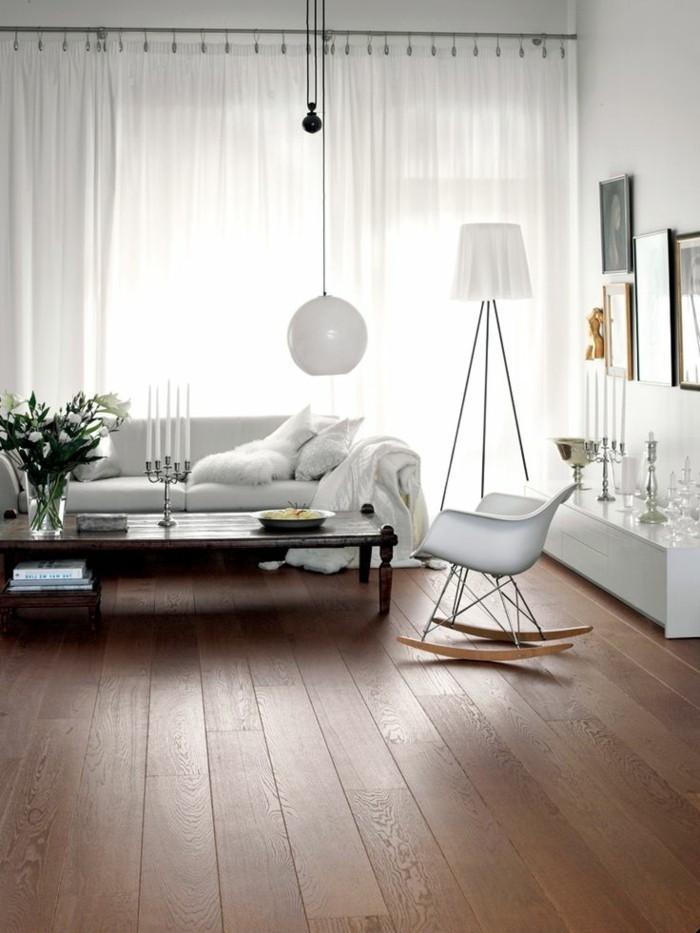 modernes-weißes-Wohnzimmer-Interieur-Parkettboden