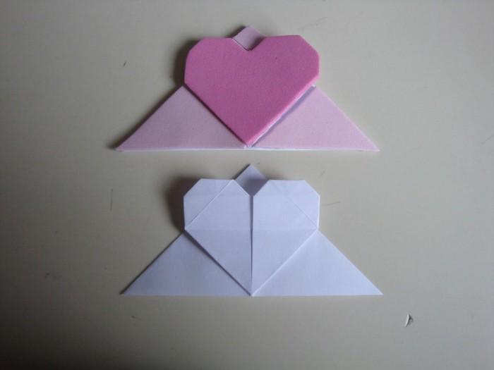 origami-herz-zwei-modelle-lesezeichen-selber-machen
