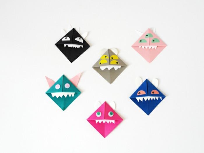 origami-lesezeichen-basteln-sehr-lustige-figuren
