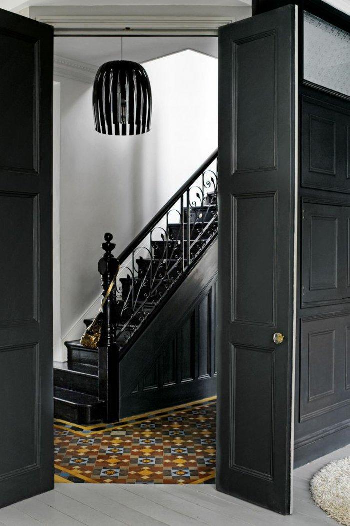 originelle-Wandfarben-Ideen-modernes-aristokratisches-Interieur