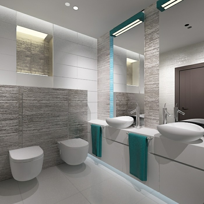 originelle-badgestaltung-ideen-weiße-farbe-große-spiegel