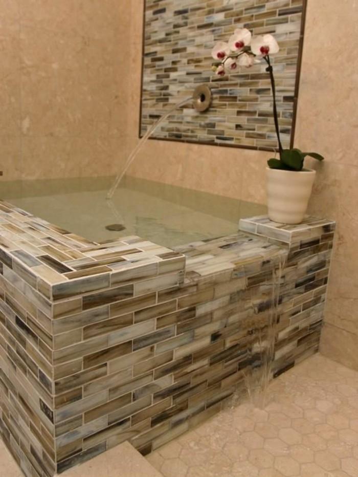 originelle-badideen-kleine-moderne-badewanne-attraktive-steine