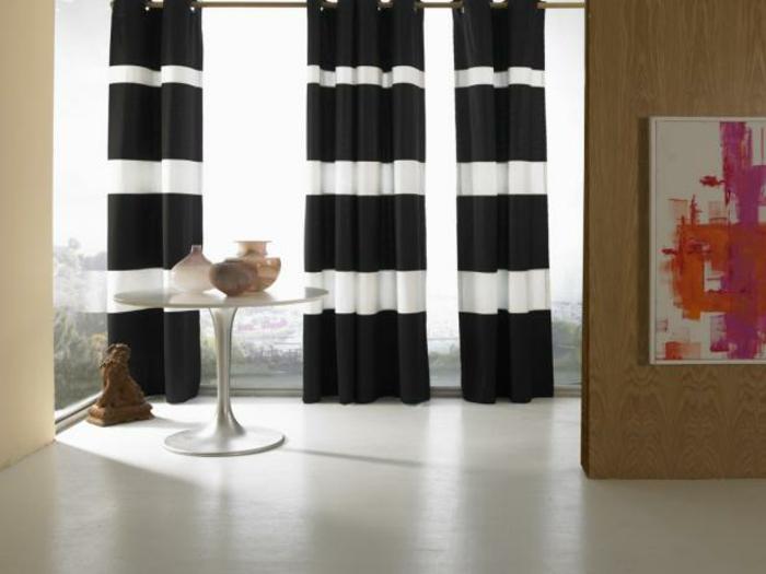 Raumgestaltung vom boden bis zur decke - Schwarze gardinen ...