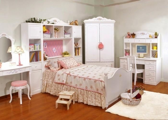 originelles madchenzimmer-mit-weißen-möbeln
