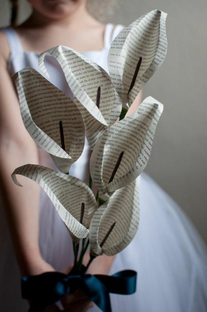 papier-falten-interessanter-blumenstrauß-selber-gemacht