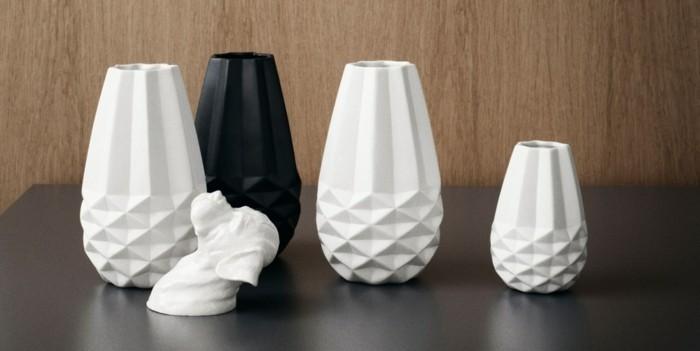 raumgestaltung mit schöner deko - attraktive vasen