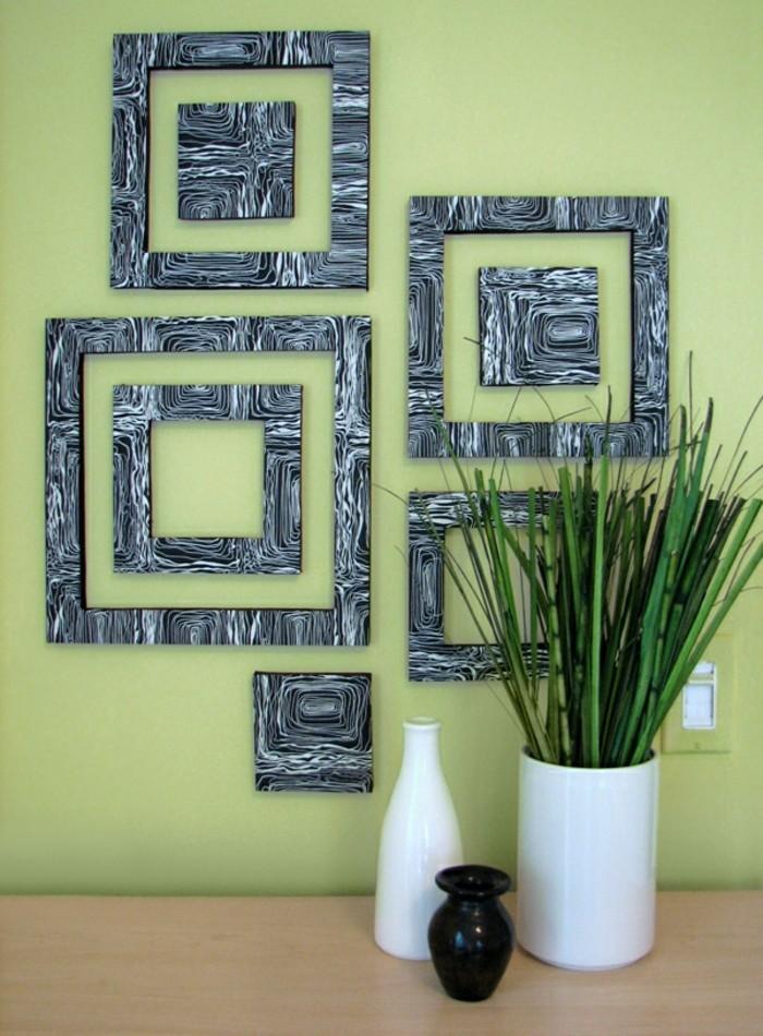 raumgestaltung-ideen-grüne-farbe-diy-wanddeko