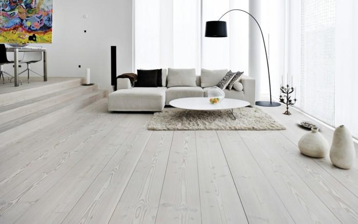 Parkettboden modern hell  Raumgestaltung: vom Boden bis zur Decke! - Archzine.net