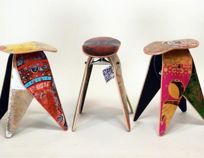 recycling-möbel-kreatives-modell-stühle