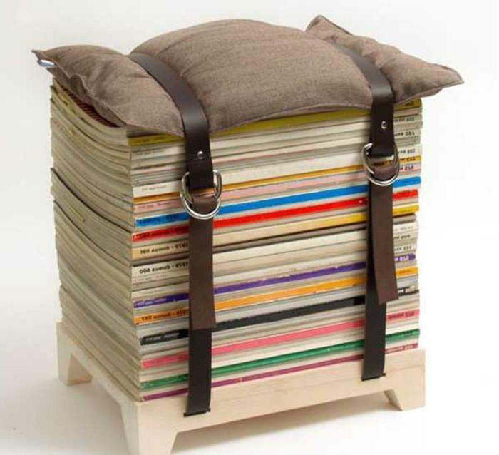 recycling-möbel-modernes-design-hocker