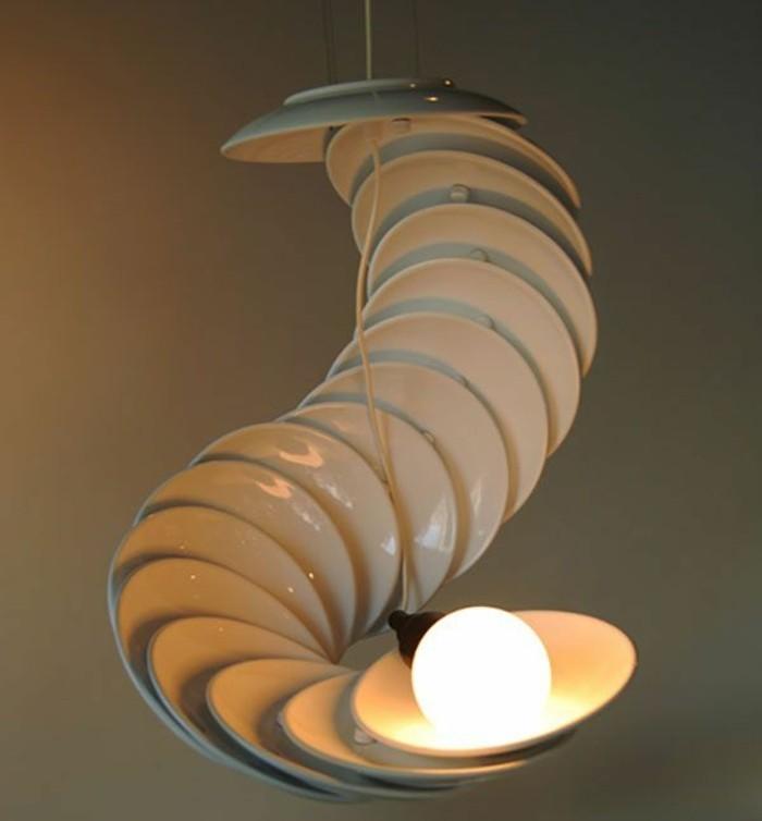 recycling mobel mabel wunderschane lampe aus tellern wien