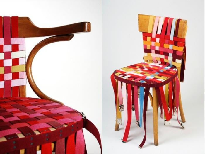 recycling-möbel-wunderschönes-modell-stühle-aus-bunten-ledern