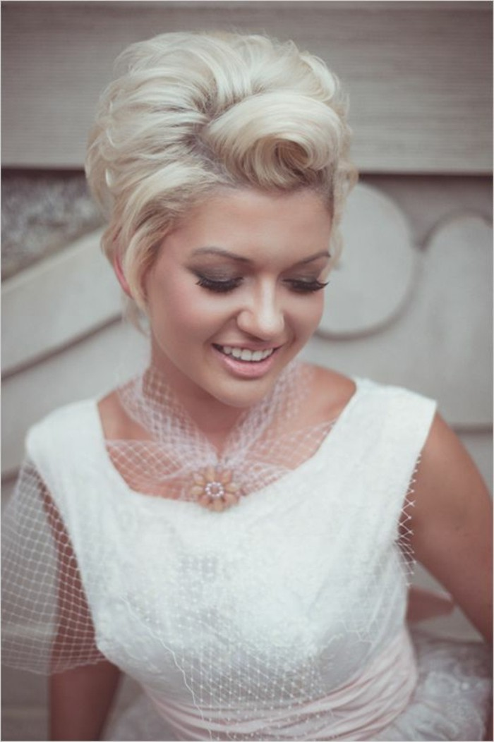 Vintage frisur kurze haare