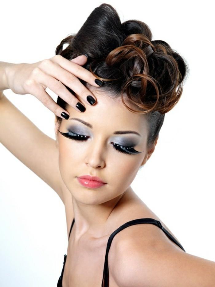 rockabilly-frisur-schöne-braune-haare