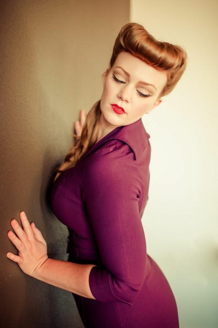 rockabilly-frisuren-professionelles-foto-orange-haare