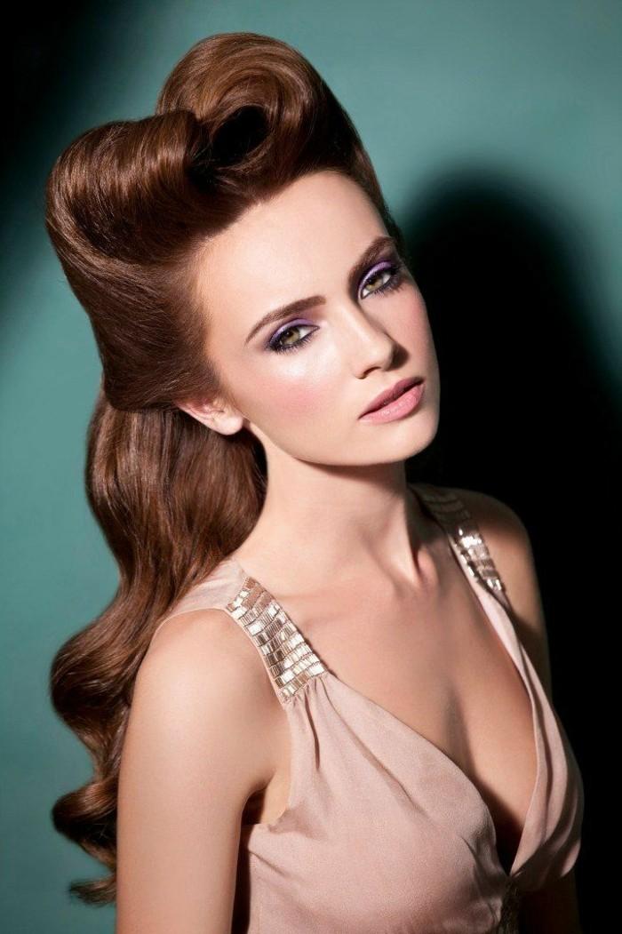 rockabilly-frisuren-sehr-schöne-lange-braune-haare