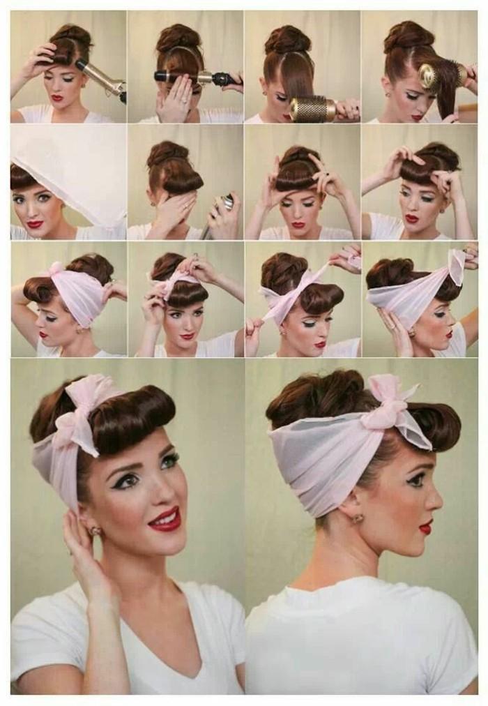 rockabilly-frisuren-viele-bilder-von-einer-hübschen-frau-mit-haarband