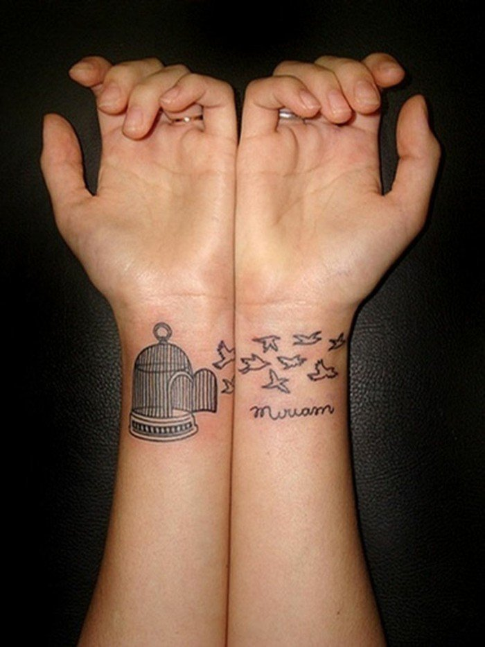 romantische-Tattoo-Ideen-für-Liebespaare-Vogel-Tattoo