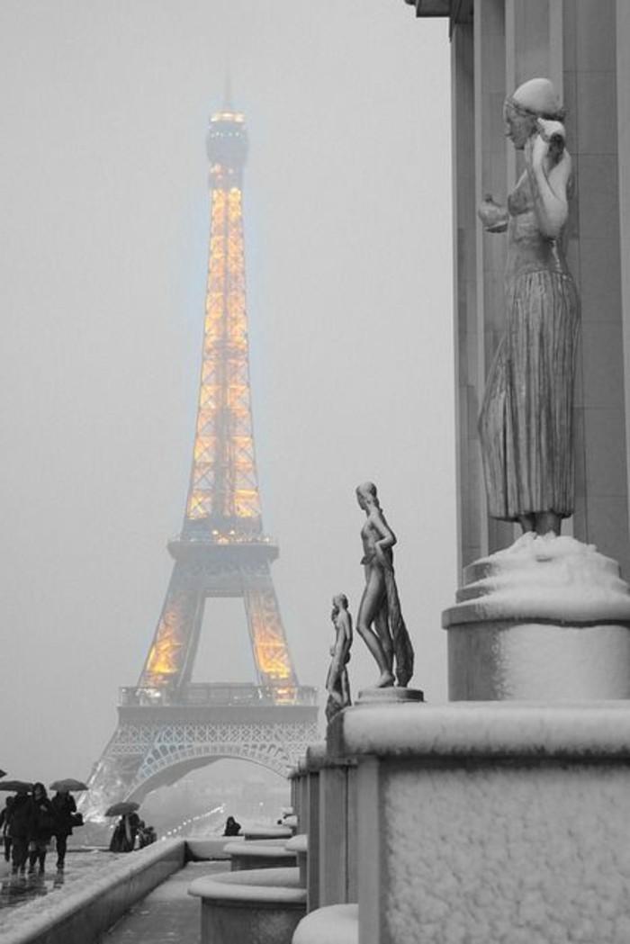 schöne-Winterbilder-von-Paris-der-beleuchtete-Eiffel-Turm
