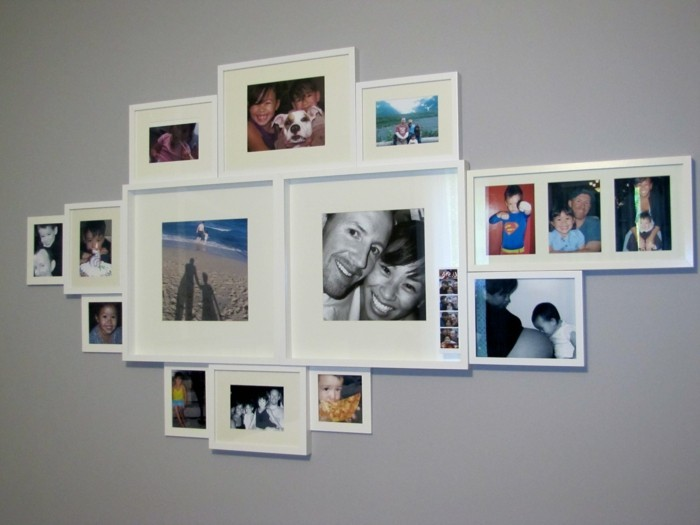 schöne-bilderwand-in-grau-bilder-mit-weißen-rahmen
