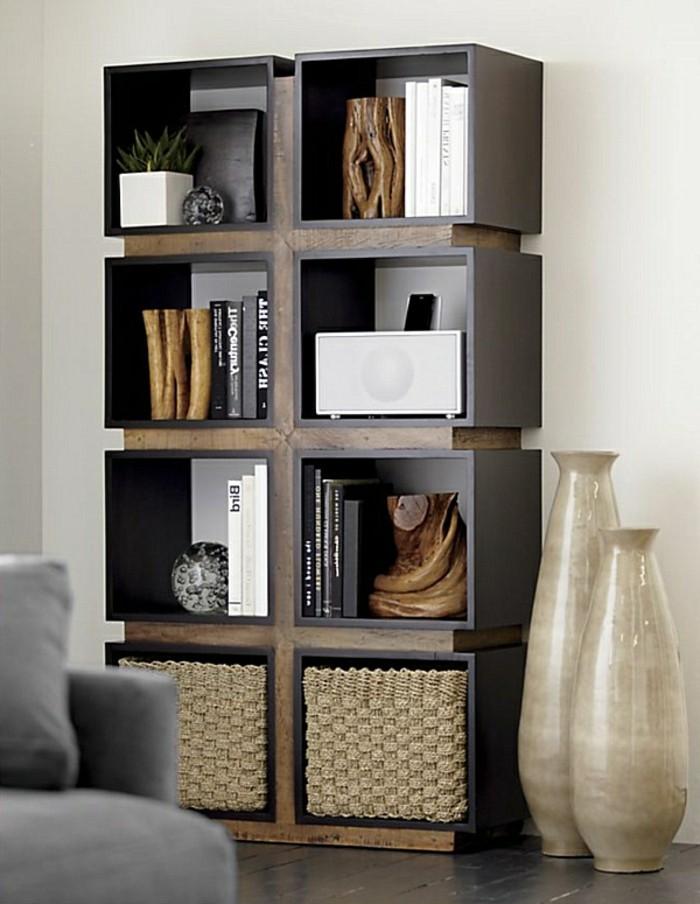 schöne-wandgestaltung-im-wohnzimmer-kreatives-design-vom-schrank-mit-regalen