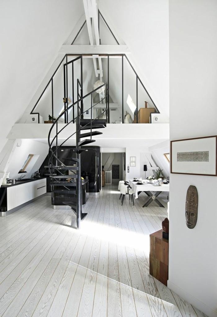 simple-zweistöckige-Wohnung-in-Schwarz-und-Weiß-mit-Parkett
