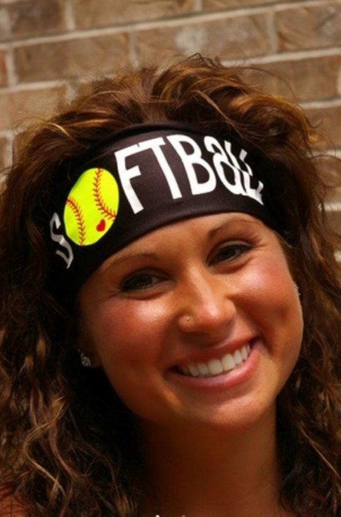 sportliches-Damen-Haaraccessoire-für-Softball