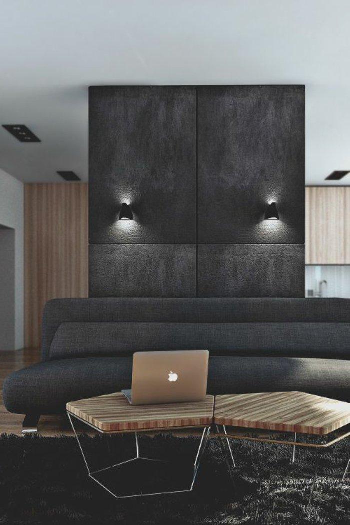 stilvolles-Interieur-feine-Möbel-Wandfarbe-Anthrazit