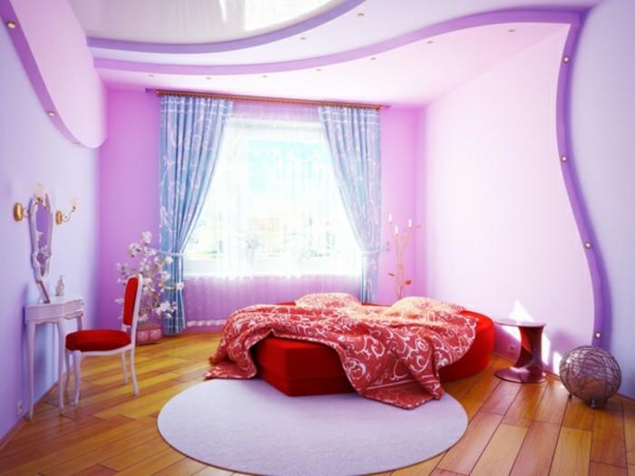 tolles-zimmer-für-mädchen-elegante-und-moderne-wandgestaltung-und-rosiger-teppich