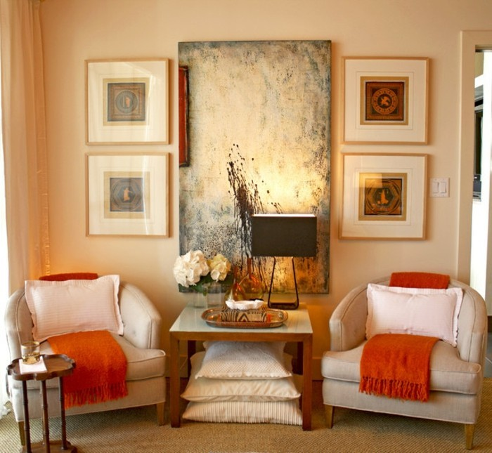 wandfarbe-gold-gemütliches-und-schönes-schlafzimmer