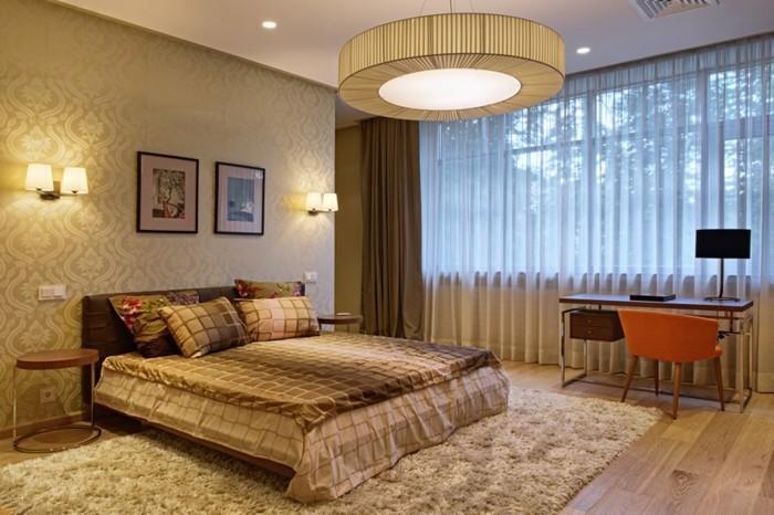 wandfarbe-gold-modernes-und-tolles-schlafzimmer-gestalten-und-dekorieren