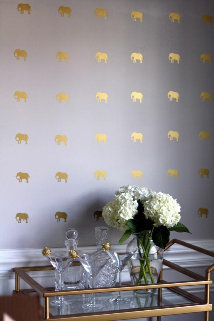 wandfarbe-gold-und-grau-zusammenbringen-super-interessantes-schlafzimmer