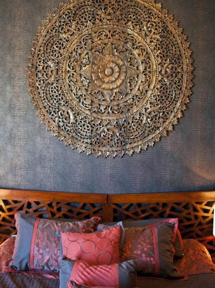 wandfarbe-gold-wunderschönes-modell-schlafzimmer-tolles-bett