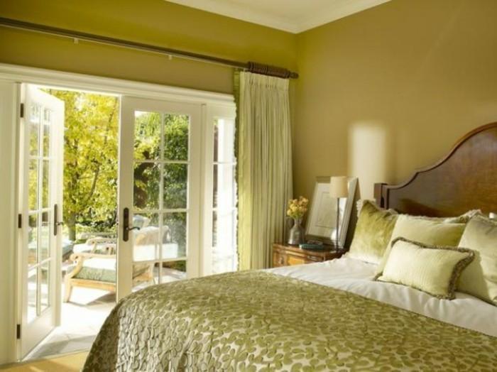 Wandfarbe Grün Elegantes Schlafzimmer Ausstatten