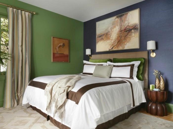 Schlafzimmer Grun Blau 2 #25: Schlafzimmer Wandfarbe Ideen In 140 Fotos!