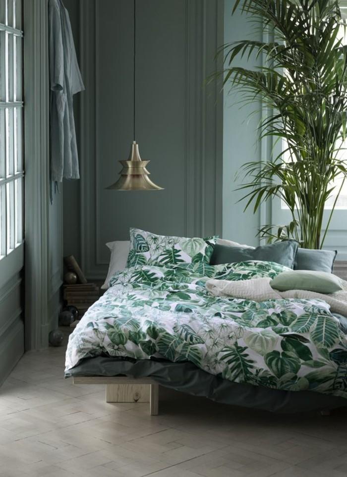 Schlafzimmer wandfarbe ideen in 140 fotos - Wandfarbe grun schlafzimmer ...