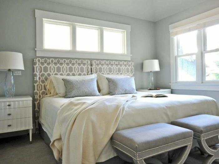 schlafzimmer grau blau ihr traumhaus ideen. Black Bedroom Furniture Sets. Home Design Ideas