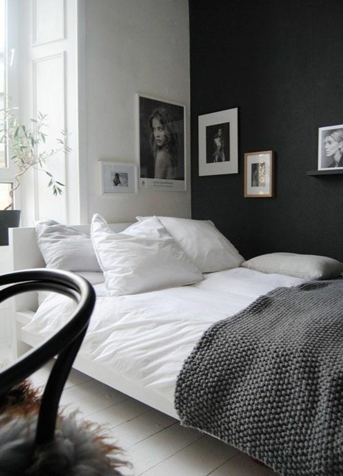 wandfarbe-grau-herrliches-kleines-schlafzimmer-ausstatten