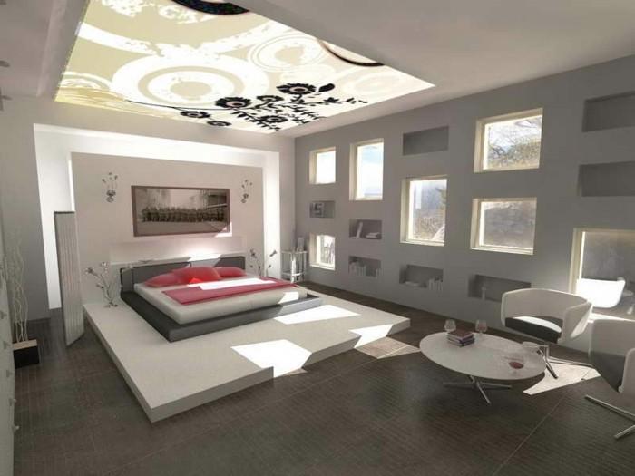 wandfarbe-grau-sehr-luxuriöses-modell-schlafzimmer-prima-design