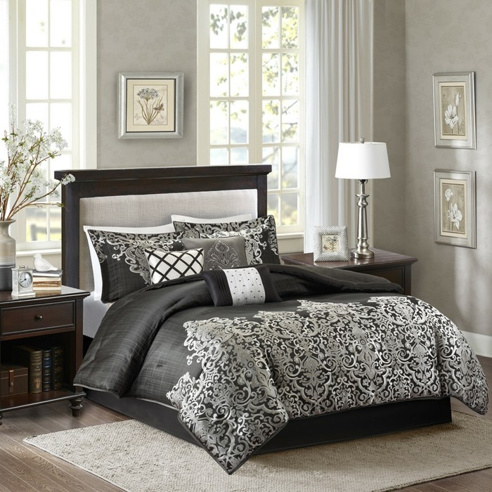 schlafzimmer wandfarbe ideen in 140 fotos. Black Bedroom Furniture Sets. Home Design Ideas