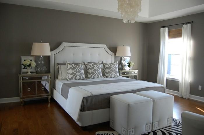 wandfarbe-grau-wunderschönes-design-schlafzimmer-einrichten