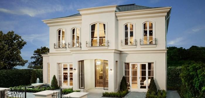 Landhaus modern fassade  Die Magnolia Farbe in 100 Bildern! - Archzine.net